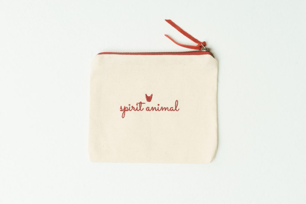 Frenchie Spirit Animal Zip Bag