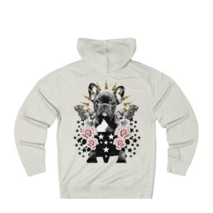Frenchie Rock On Hoodie