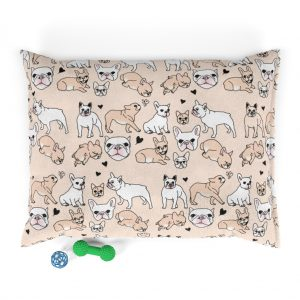 White/Sand Frenchie Pet Bed
