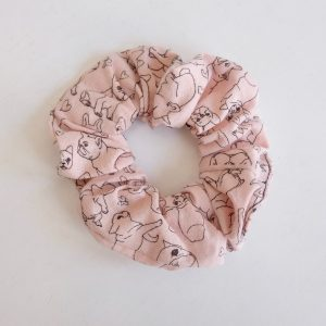 Frenchie Sketch Scrunchie