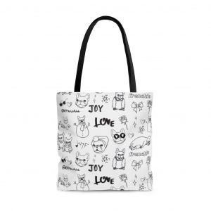 Frenchie Holiday Tote Bag